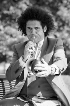 Michel Feugère et sa trompette