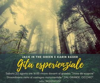 """Gita esperienziale """"L'ALBERO DAL GRANDE OCCHIO""""sabato 22 agosto"""