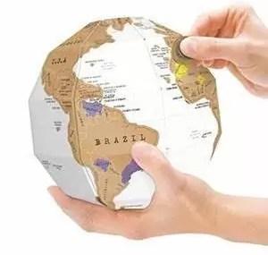 globe monde à gratter
