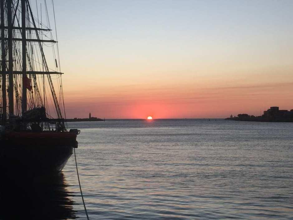 Sunset au port de Fremantle