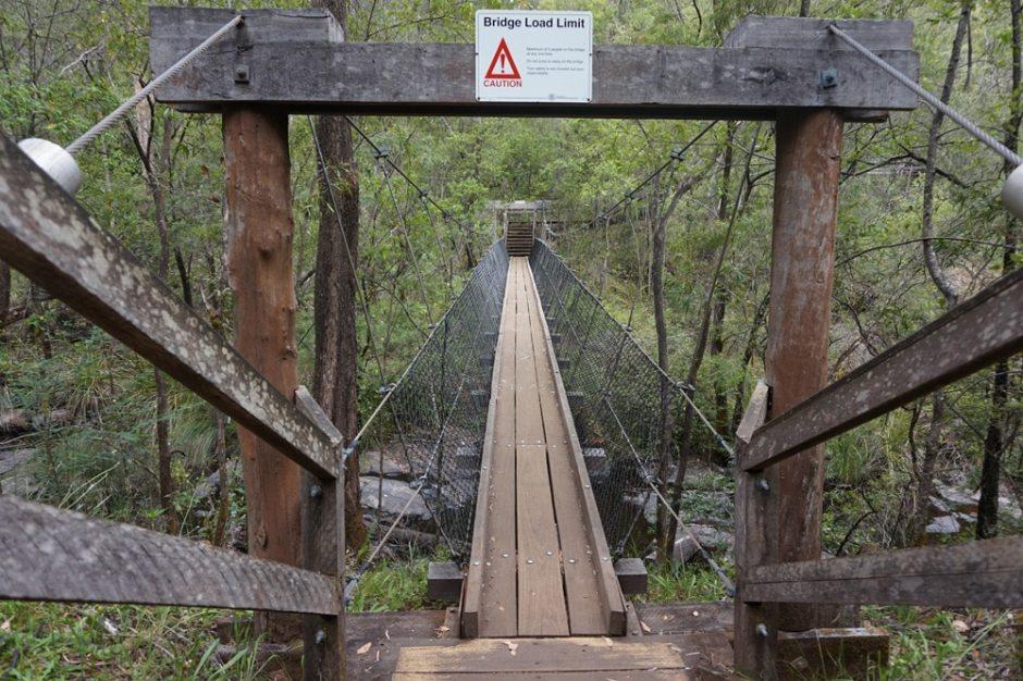 Le pont suspendu des Beedelup Falls