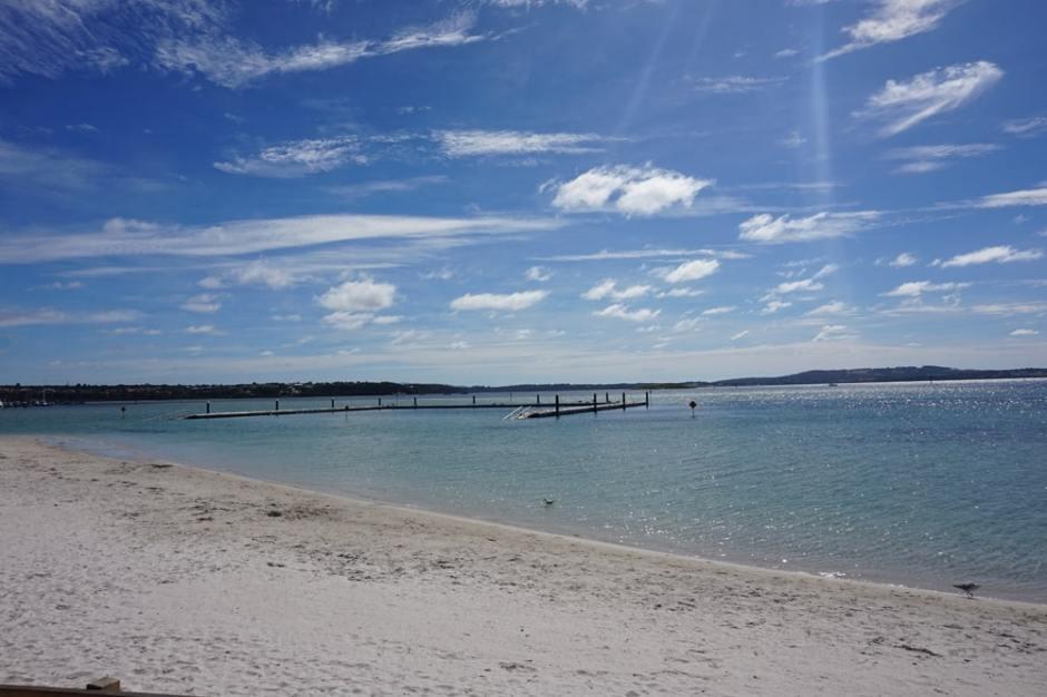 La plage d'Emu Point