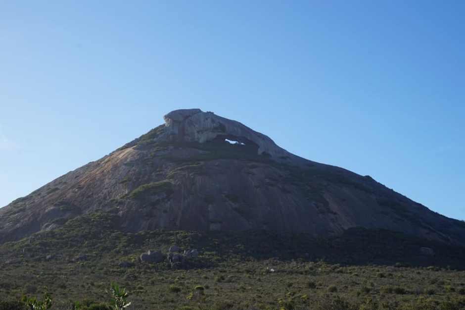 Le mont vu du bas