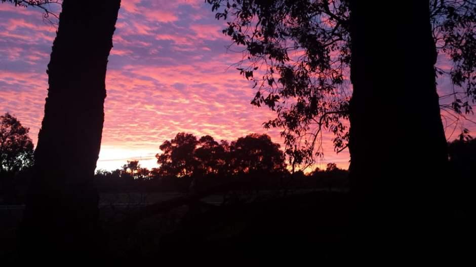 Le lever de soleil du dernier jour. C'est reparti !