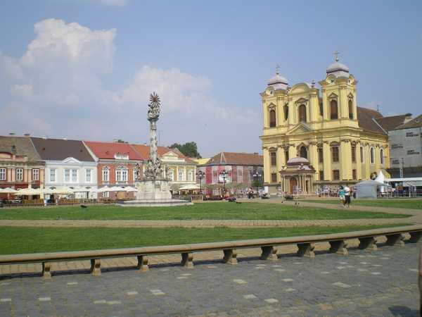 Square in Timişoara, Romania