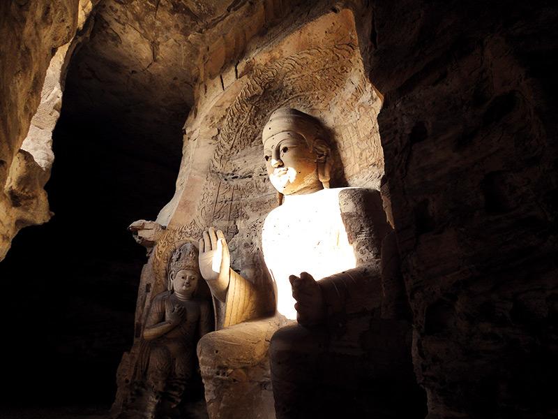 Yungang Grottoes in Datong