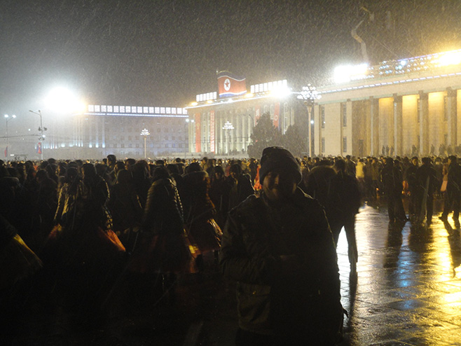 Kim Il-Sung square during spring festival