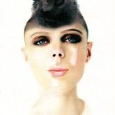 Portrait of Lea as a Wolf woman - watercolor