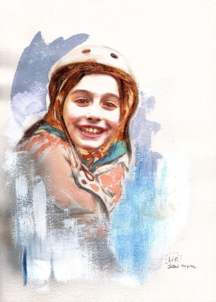 Portrait of Lio - watercolor on paper