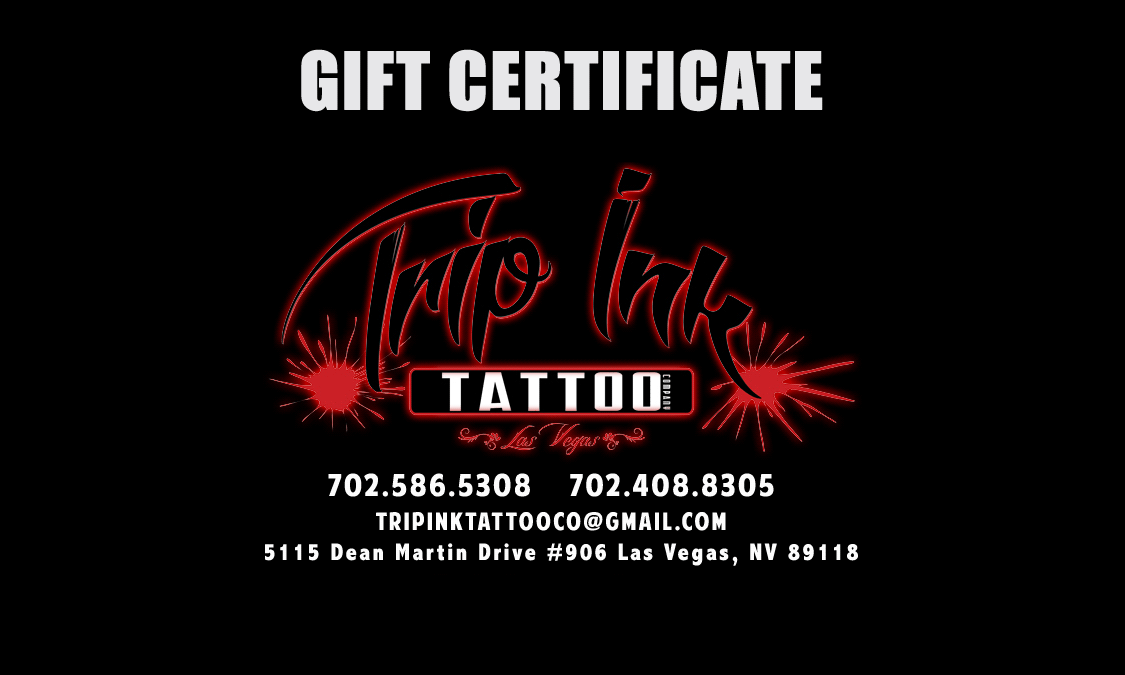Tattoo Shop Gift Certificates - Best Tattoo Shops In Las Vegas ...