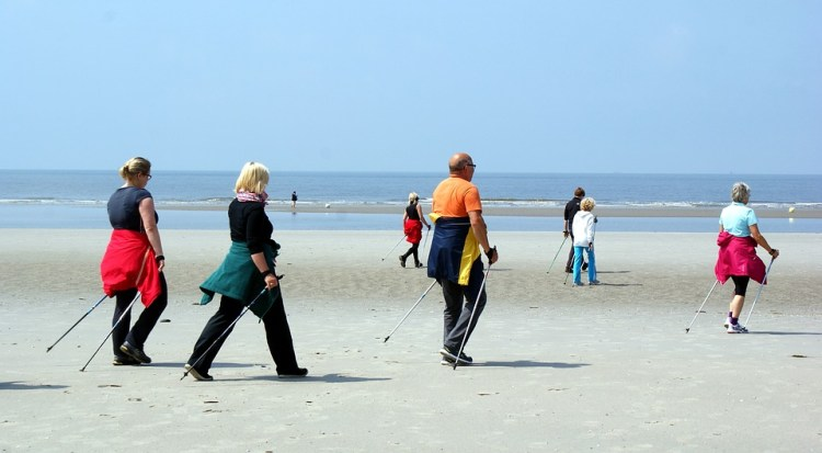 Nordic Walking in spiaggia