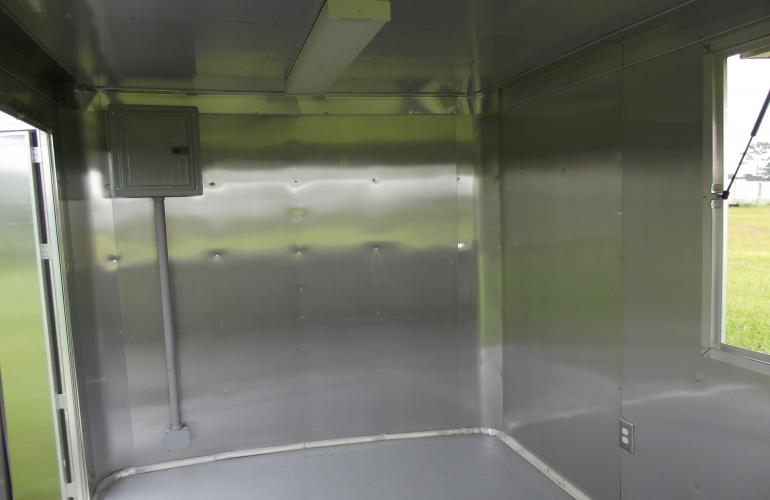 7x12 Concession Shell Gray Water Tank Porch Trailer