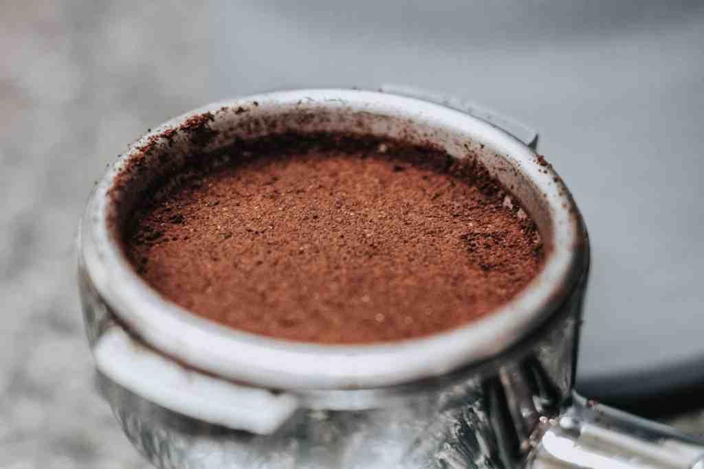 Espresso Grounds in Portafilter