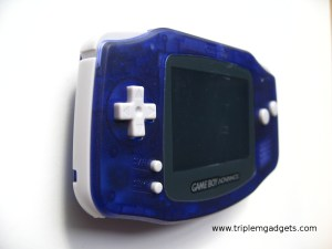 GBA backlight clear purple