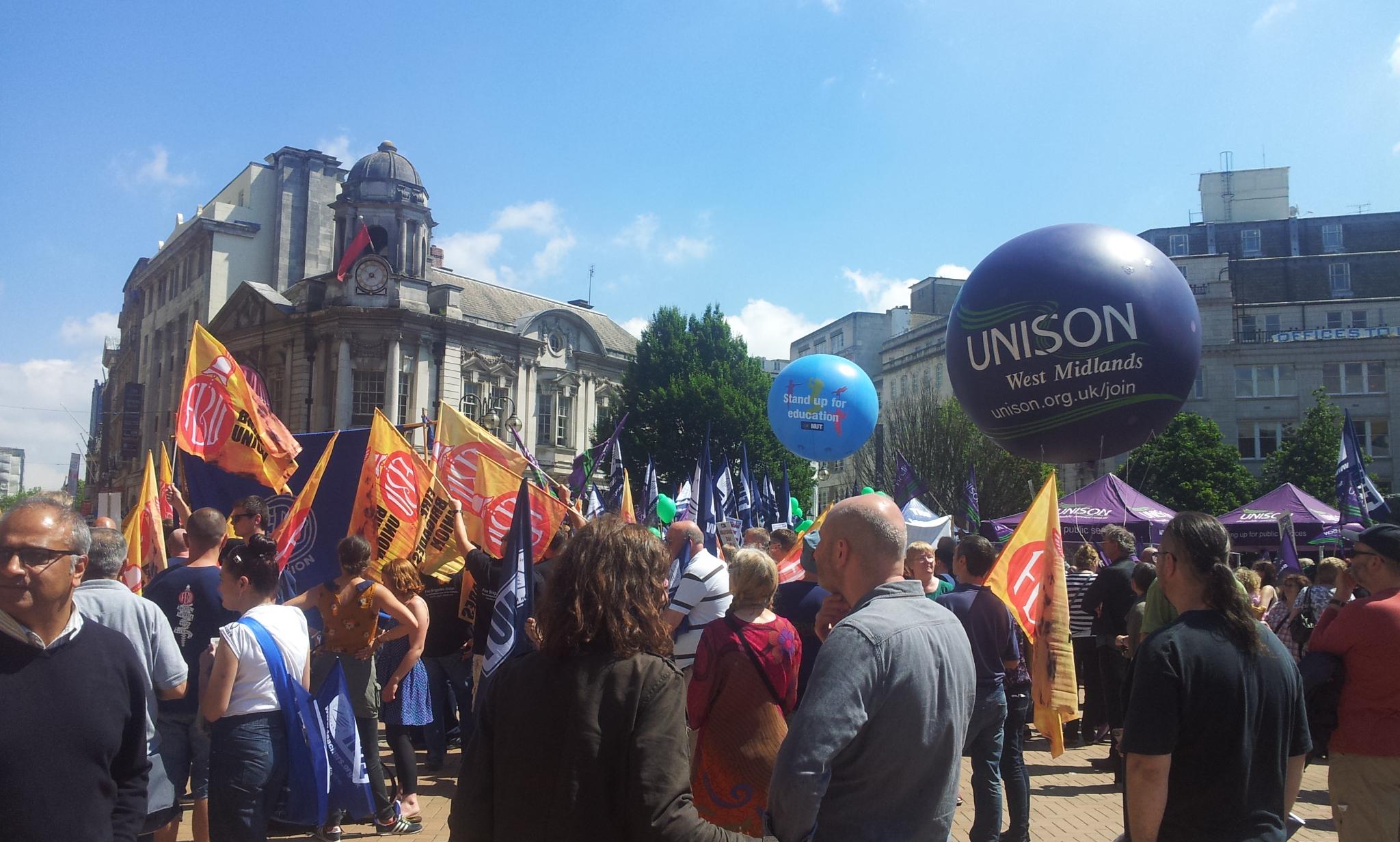 Birmingham strike union rally