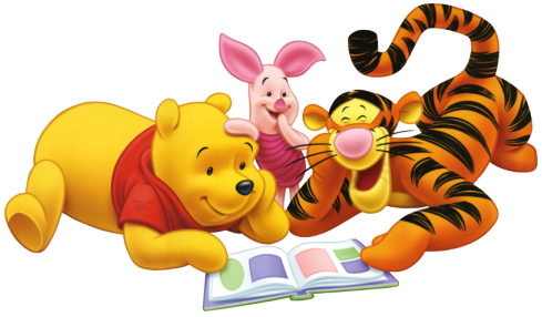 Image result for piglet reading animated gif