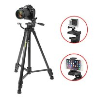 iKross 61-inch Professional Light Weight DSLR Tripod with Smartphone / Gopro Adapters and Carrying Bag