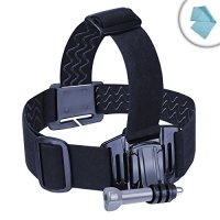 USA Gear Universal Head Strap Action Mount with J Hook and Tripod Adapter - Works With Garmin Virb XE , Kodak PIXPRO SP1 , Replay XD Prime X and More