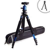 "MagnesiumPRO 62"" DSLR Digital Camera Tripod with Detachable Monopod , Quick Release Plate and Rotating Ball Head - Works with Canon , Nikon , Sony , Panasonic , Olympus , Fujifilm , Leica & More SLR and DSLR Digital Cameras *Includes Mini Tripod"