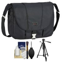 Tamrac 5426 Aria 6 Messenger Photo/iPad Digital SLR Camera Case / Bag (Black) with Tripod + Accessory Kit for Canon EOS 70D, 6D, 5D Mark III, Rebel T3, T5i, SL1, Nikon D3200, D5200, D5300, D7100, D600, D800, Sony Alpha A65, A77, A99