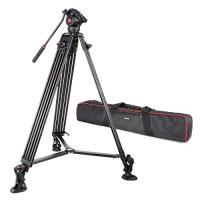 "VILTROX VX-18M Professional Heavy Duty Video Camcorder Tripod with Fluid Drag Head, 74"" inch ,Max loading 10KG, with Carrying bag,Horseshoe Shaped bracket Shipping Day 3-5 days"