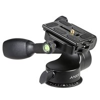 Andoer Q08 Pro Video Tripod Monopod Ball Head 3-way Fluid Head Rocker Arm with Quick Release Plate for Canon Nikon Sony DSLR Camera Benro Manfrotto Gizto and Velbon Tripod
