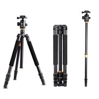 AFAITH Professinal DSLR Camera Tripod Monopod & Ball Head Portable Compact Travel For DSLR Camera Canon Nikon Sony Pentax Up to 17.5 lbs