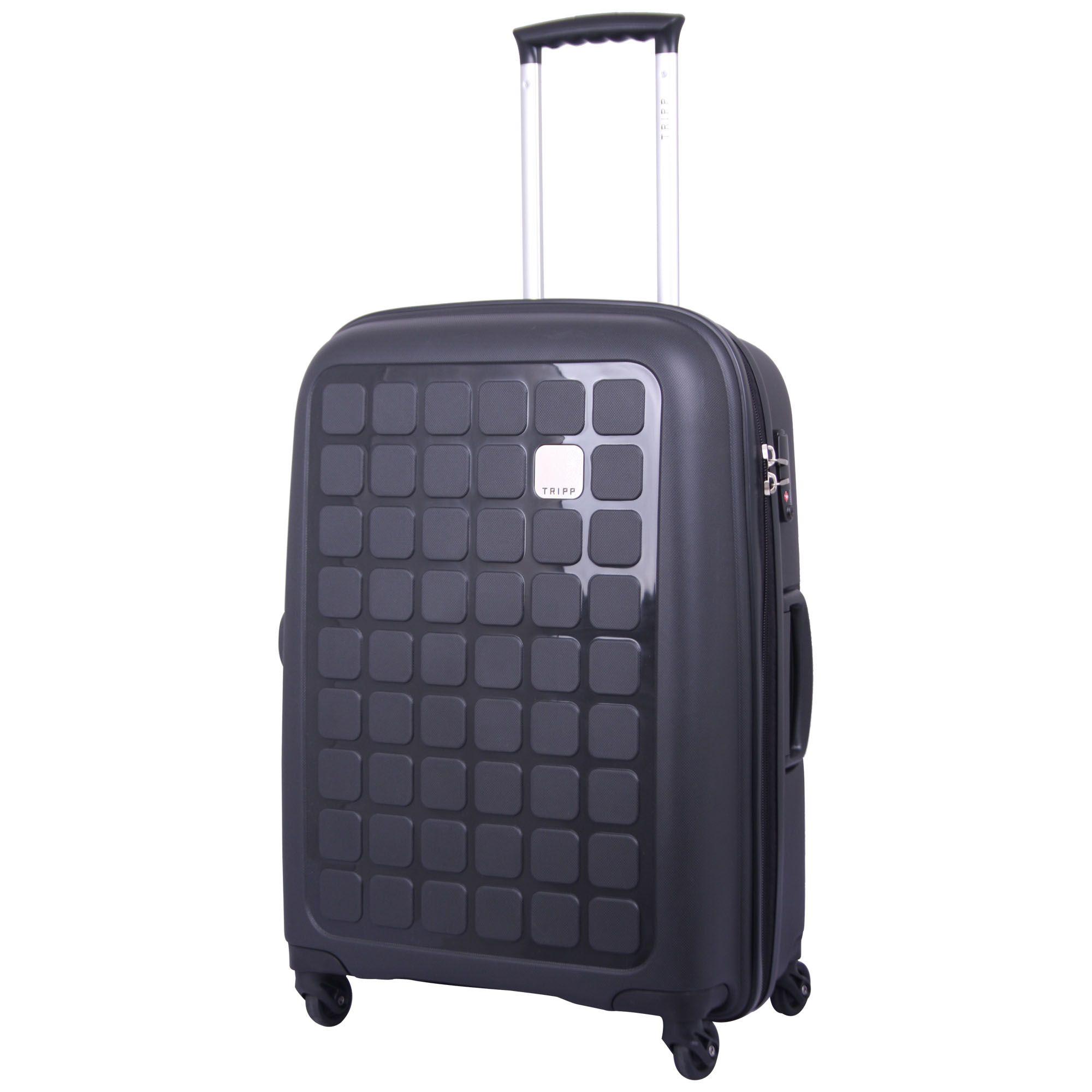 Tripp black II 'Holiday 5' medium 4 wheel suitcase - Hard ...