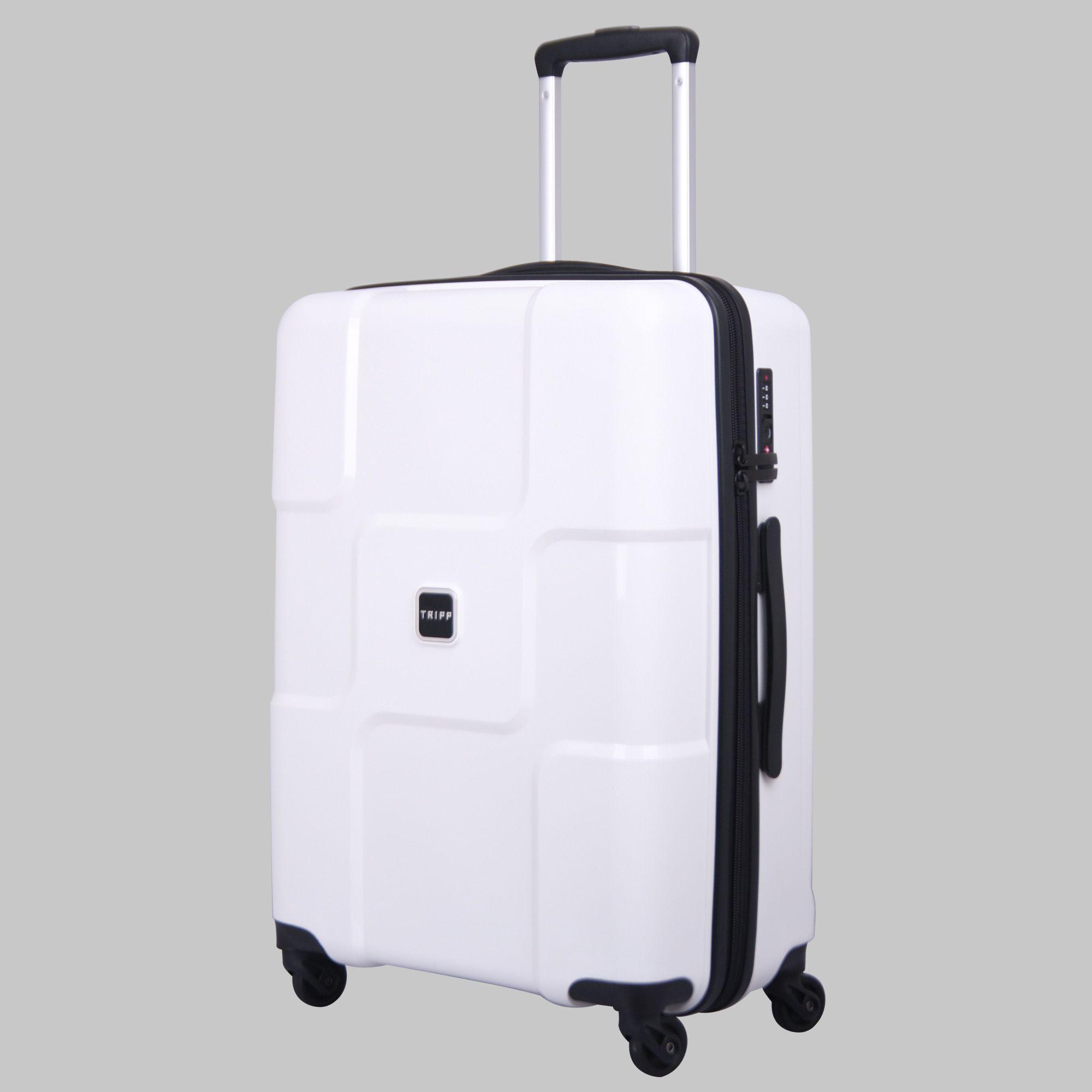 Tripp white II 'World' 4 wheel large suitcase - Hard ...