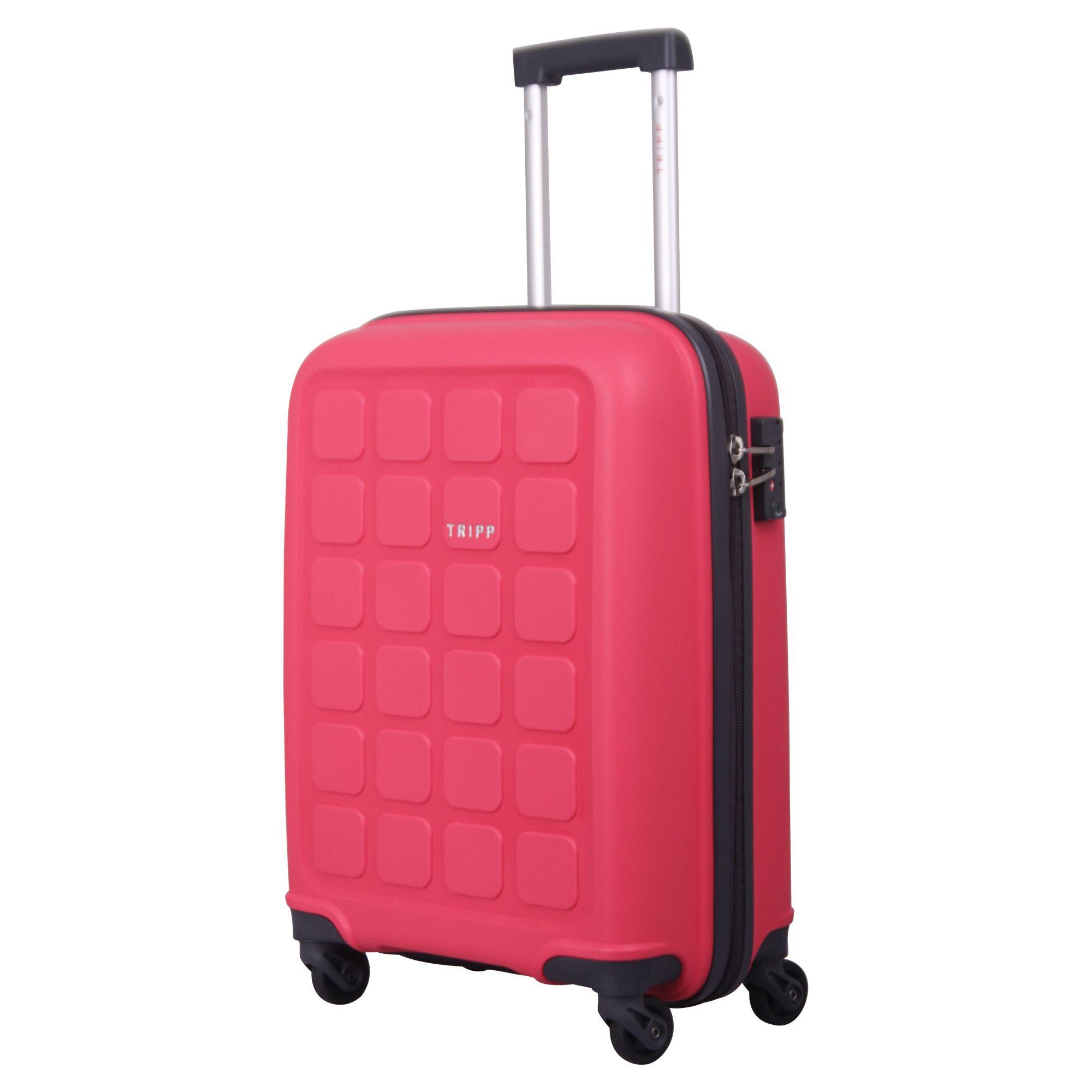 Tripp Raspberry 'Holiday 6' Cabin 4 Wheel Suitcase - Hard ...