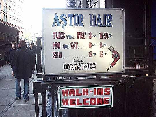 Astor Place Famous Barber Shop For Haircuts In New York City Manhattan Ny Usa Clip 40396237