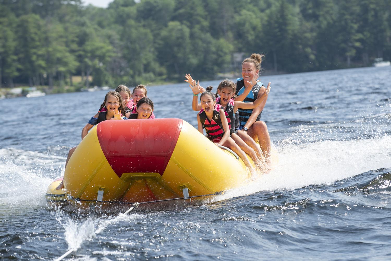 Banana Boat at Tripp Lake Camp in Maine