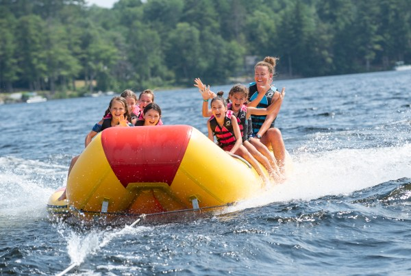 Banana Boat at Tripp Lake Camp in Maine