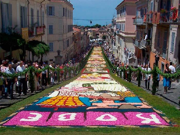 Genzano Inflorata Flower Festival, Genzano, Italy
