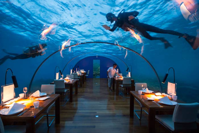 Ithaa Restaurant in The Maldives