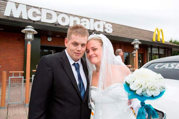 wedding in McDonalds