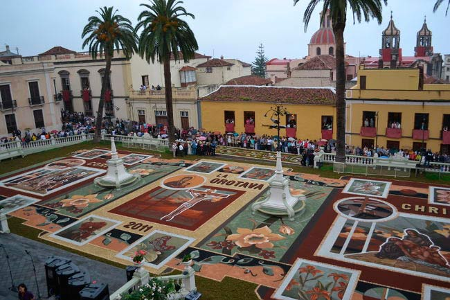 The Carpet Streets in La Orotava, Canary Islands