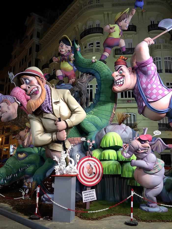 fallas in Valencia Spain