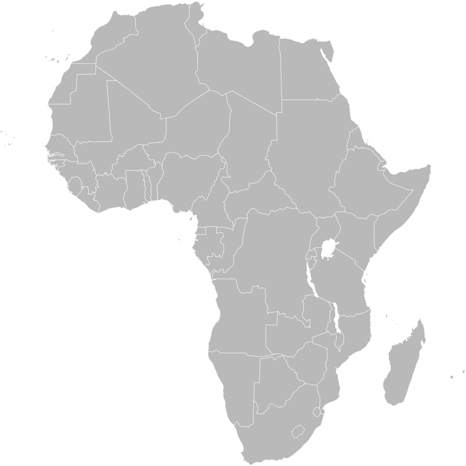 Various Maps Showing How Big Africa Is Blank Political Map of Africa