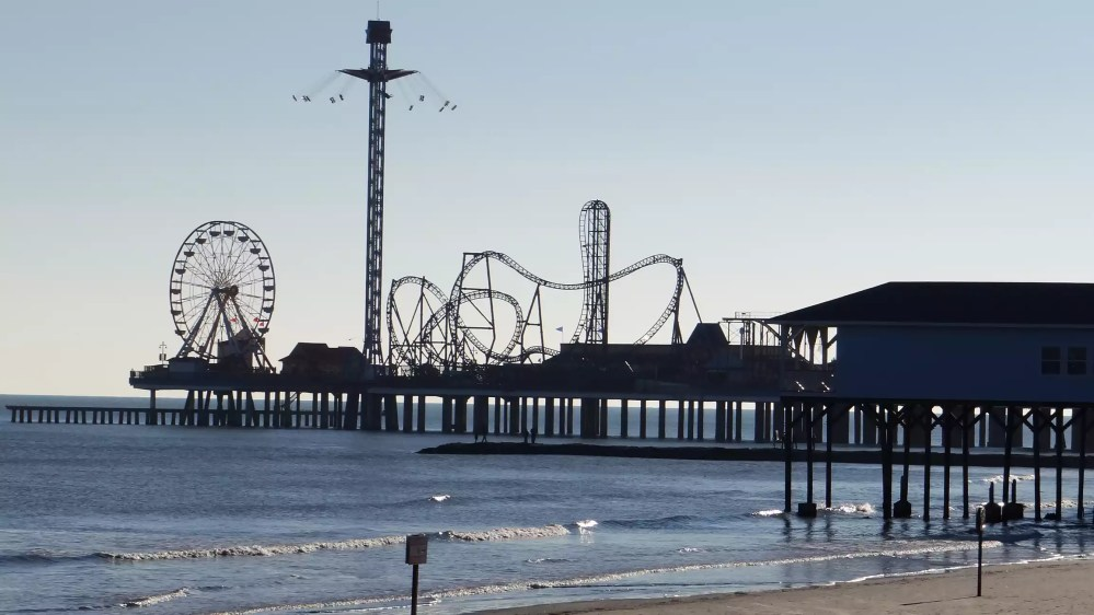 The pier in Galveston