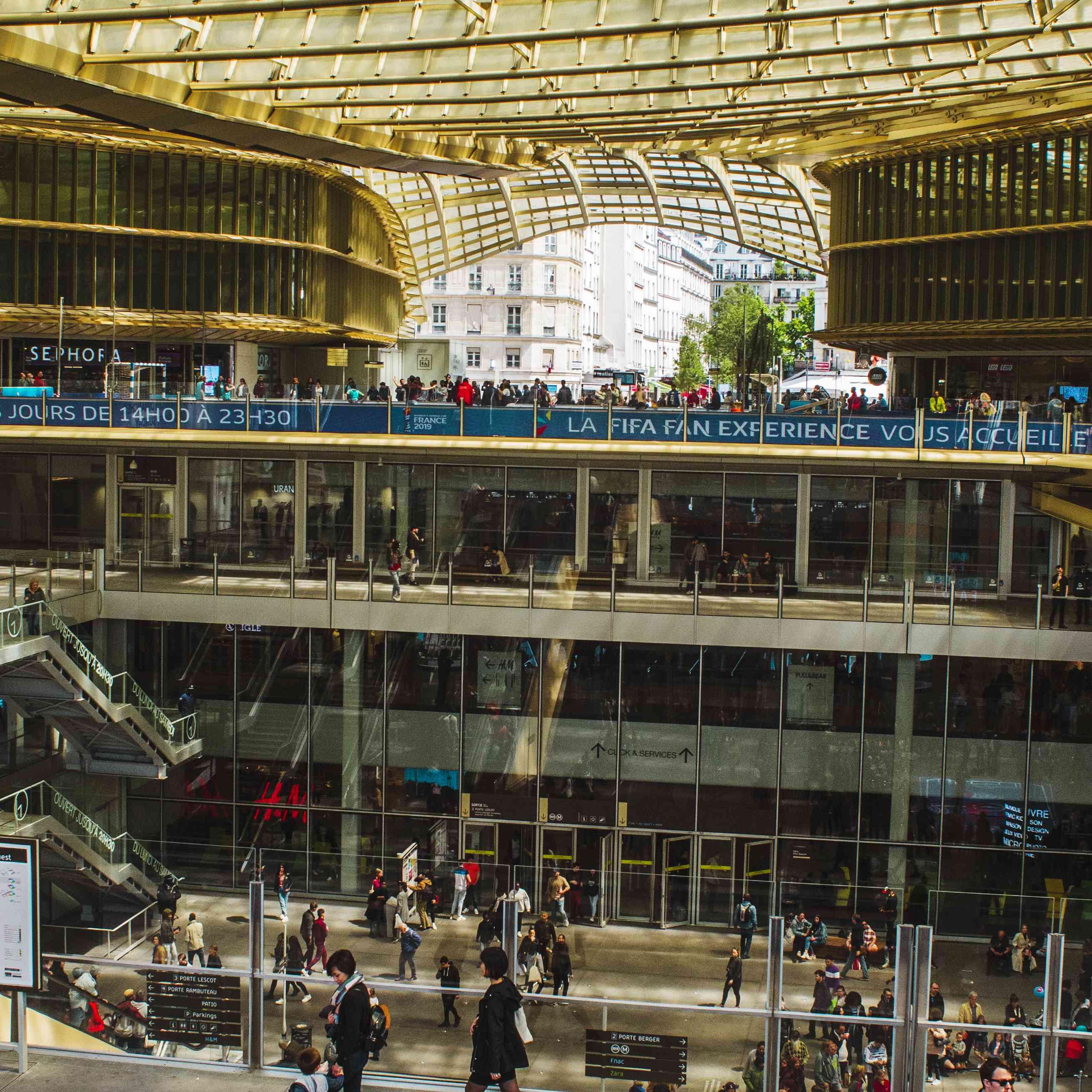forum des halles shopping center in paris