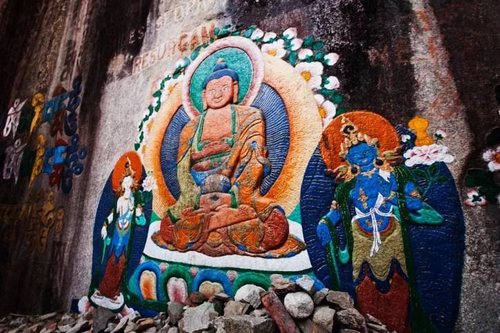 Buddhist temple in Manali