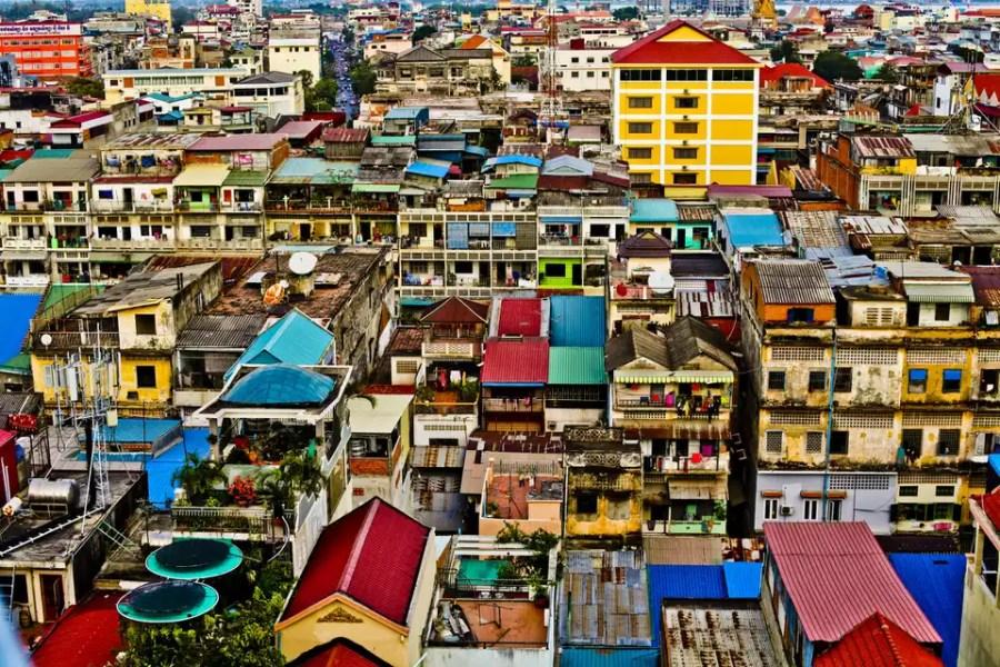 House tops in Phnom Penh