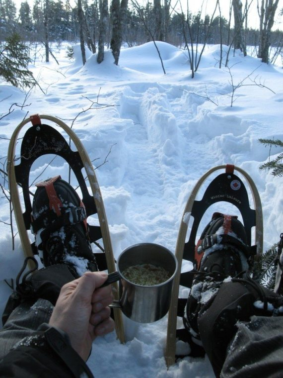 Cup-o-soup on the Dobson Trail...doesn't get any better than this!