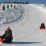 Sliding on the Riverview Toboggan Hill
