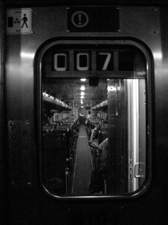 Via Rail Train Door