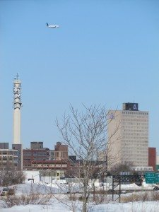 The view of the Moncton skyline from the trail on a winters day is awesome!