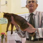 Walter Hutzler judging at the frist annual Spring Has Sprung Riverview Cat Show