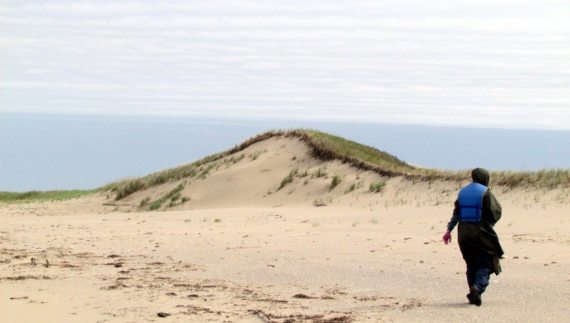 We paddled over to the dunes and walked along the incredible landscapes.