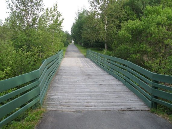 NB Bike Trail in Edmundston